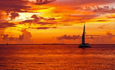 Sunset Off Key West Florida