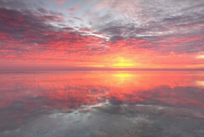 Sunrise Reflection On Lake Huron