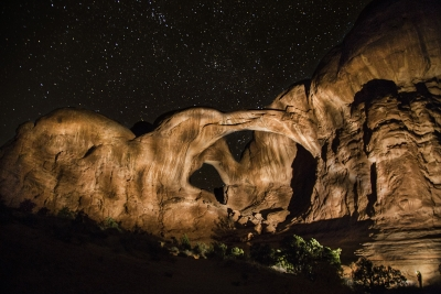 Double Arch Painted With Light