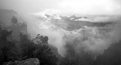 Winter Storm In The Canyon