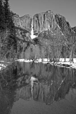 Yosemite Fall Reflection And Snowcone