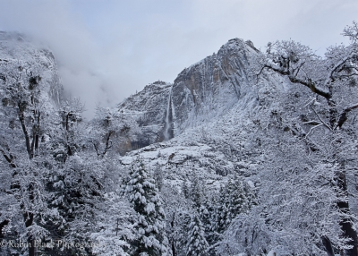 Winter Storm Over Yosemite Falls