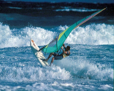 Windsurfing At Sydney's Dee Why Beach