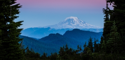 Mount Adams At Dusk