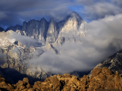 Mt. Whitney Shrouded In Clouds