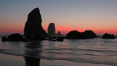 October Sunset At Cannon Beach