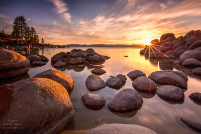 Sierra Nevada Spring Sunset, Lake Tahoe