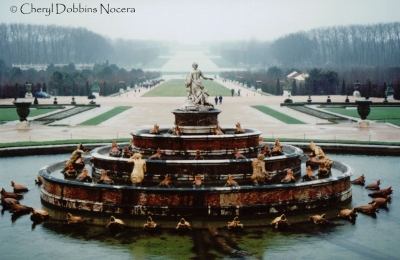 Latona Fountain At Versailles Palace