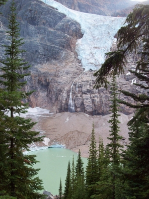 Angel Glacier And Cavell Pond