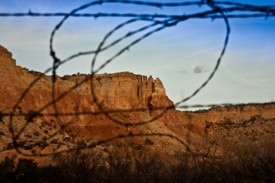 Through A Barbed Wire Fence
