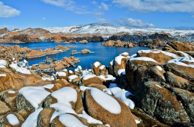 Snow-coated Granite Dells