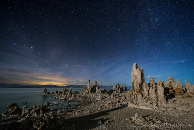 South Tufa With Big Dipper And Northern Milky Way