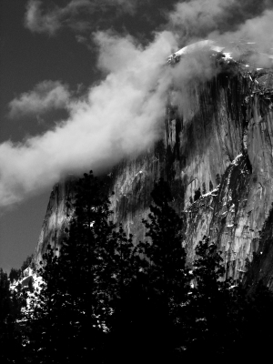 Half Dome Touched By Clouds