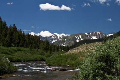 Long Draw Creek With Lead And Cirrus Mountain In Background