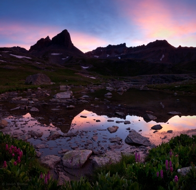 Last Light On Ice Lakes Basin