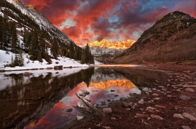 Pink Maroon Bells Sunrise