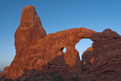 Peering Through Turret Arch