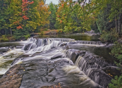 Waterfall On Ontonagon