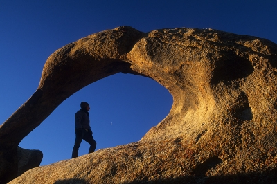 The Moon, A Woman, And The Arch