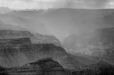 Rain Clouds In The Grand Canyon