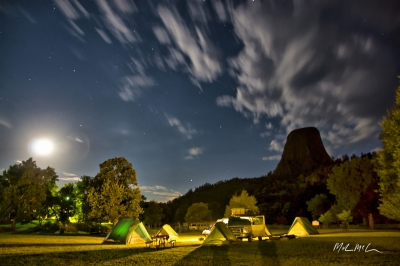 Devils Tower Koa At Night