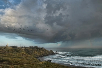 Storm Cell Over Cape Blanco