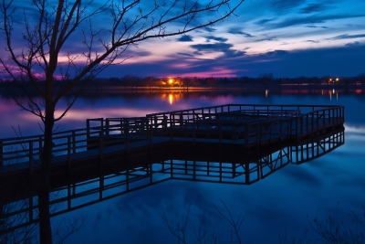 Fishing Dock At Twilight