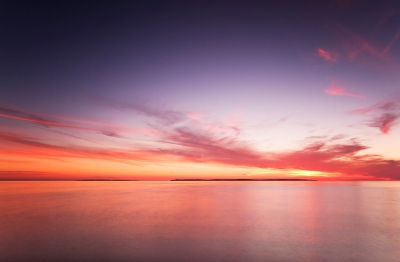 Manitou Islands During Sunset