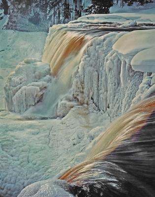 Tahquamenon Falls In Winter