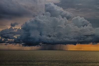 Thunderstorm Cloud Ov The Gulf Of Mexico