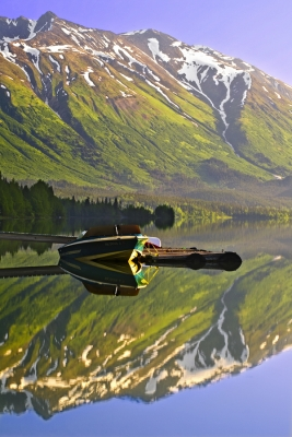 """zen"" (alaska, Bear Lake, Chugach National Forest, Seward, Reflection)"