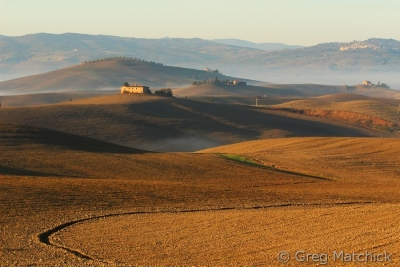 Daybreak On The Farm Fields Of Tuscany