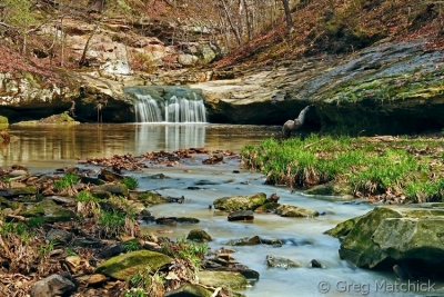 Waterfall In Piney Creek Ravine