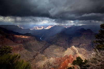Pima Point Storm, South Rim, Grand Canyon Np