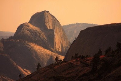 Half Dome From Olmsted Point, Warm Light