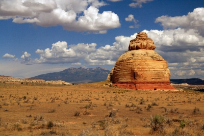 Church Rock And The La Sal Mountains