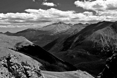 Trail Ridge Road View From Rock Cut