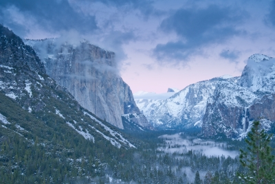 Yosemite Tunnel View With Alpenglow