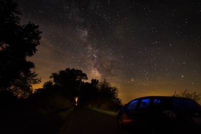 Driving Up To Milky Way
