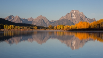 First Light On Oxbow Bend Aspen