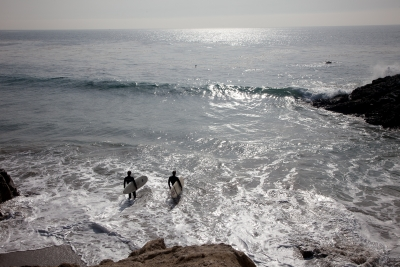 Surfing At Leo Carrillo State Beach