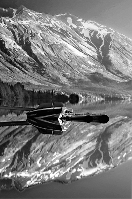 Alaska, Bear Lake, Chugach National Forest, Seward, Reflection