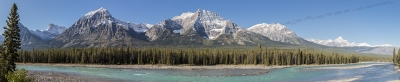 Athabasca River And The Churchill Range