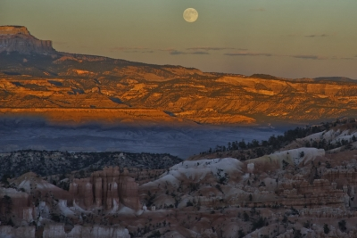 Full Moon Over Bryce
