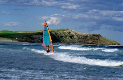 Sailboarding At Long Reef