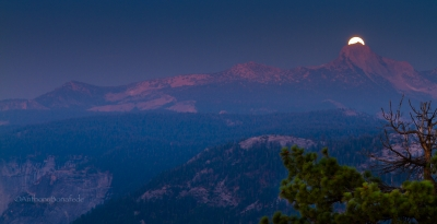 Moonrise Over The Sierras