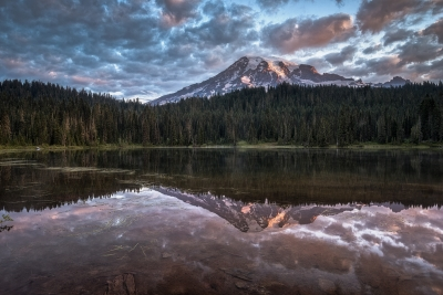 Rainier At Reflection Lake