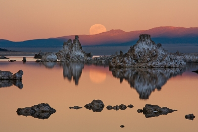 Moon Rise Over Mono Lake