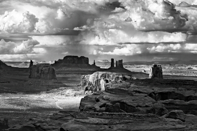 Hunts Mesa Black And White