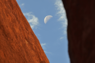 Moon Above Spooky Gulch